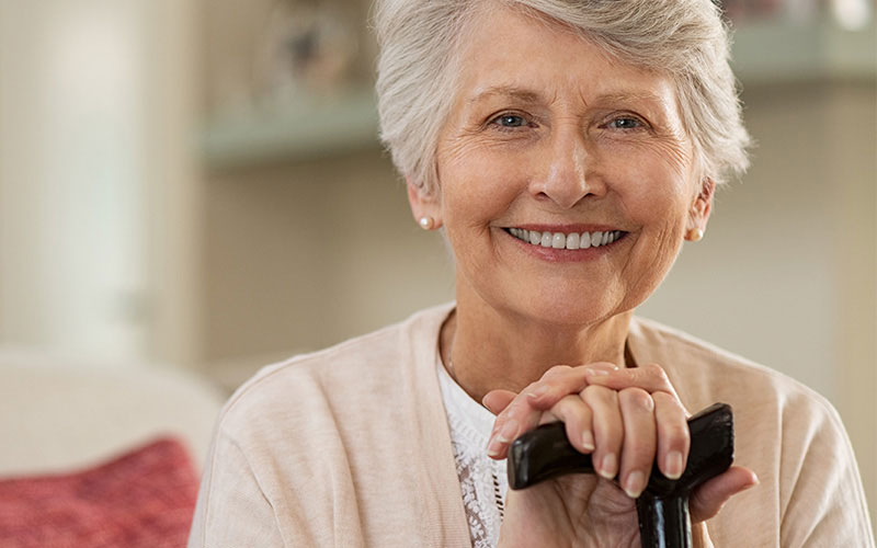 elderly-woman-smiling - Aesthetic Dental and Denture Clinic